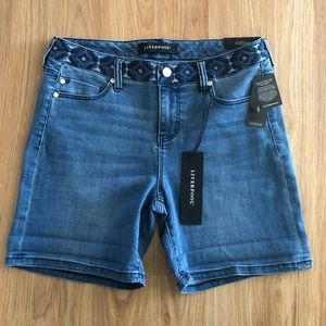Liverpool Women's Vickie Shorts Denim Size 6 (A)